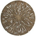 Set of 2 Round Wall Decor Decay Wood Finish (China)