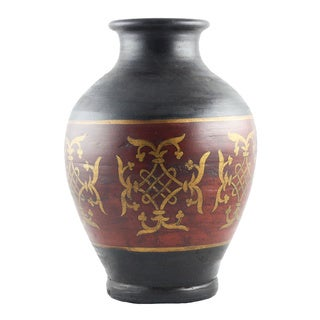 Hand-thrown Terracotta Decorative Vase (India)