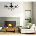 Glossy Black Chandelier Vinyl Wall Decal