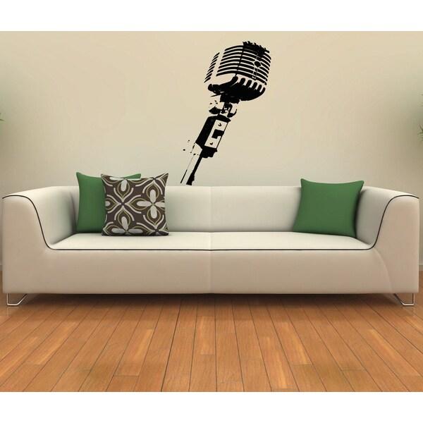 Studio Microphone Vinyl Wall Decal