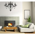 Glossy Black 1-tier Chandelier Vinyl Wall Decal