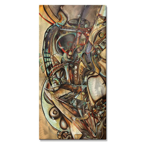 Brian Wall 'Caught Up In The City' Abstract Metal Wall Decor