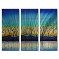 Peggy Davis 'Crisp Morning' Metal Wall Art