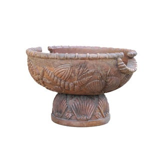 Vintage Hand-carved Wooden Bowl (India)
