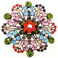 Multicolor Stone Flower Wedding Brooch/ Pendant