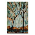 Peggy Davis 'Tall Tall Trees' Metal Wall Art