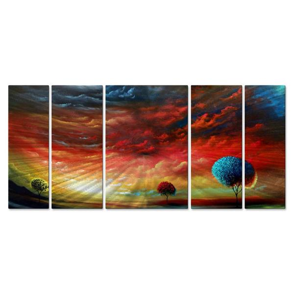 Matthew Hamblen 'The Light' Metal Wall Art 5-piece Set