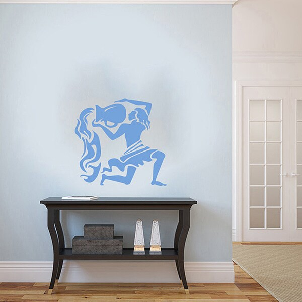 Zodiac Aquarius Vinyl Wall Decal