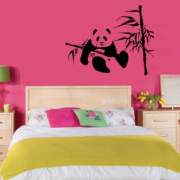 Panda in Bamboo Vinyl Wall Decal