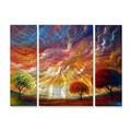 Matthew Hamblen 'Magic Sunset' Metal Wall Art 3-panel Set