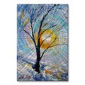 Karen Tarlton 'First Winter Snow' Metal Wall Art