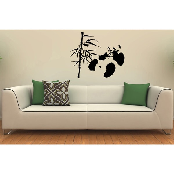 Panda with Bamboo Vinyl Wall Decal