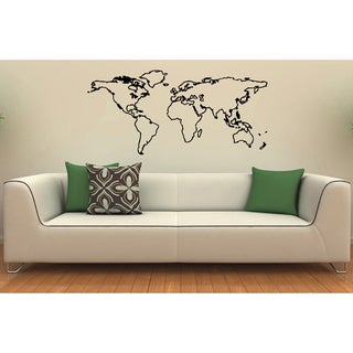 World Map Vinyl Wall Decal