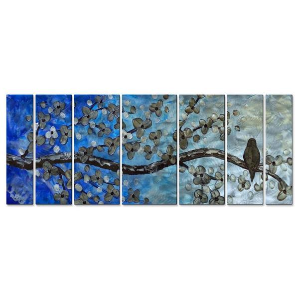 Brittney Hallowell 'Welcoming Spring with a Song' Metal Wall Art 7-panel Set
