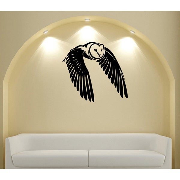 Flying Owl Vinyl Wall Decal