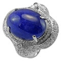 De Buman 14K White Gold Genuine Tanzanite and 3/5ct TDW Diamond Ring (H-I, I1-I2)
