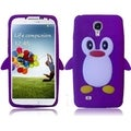 BasAcc Purple Penguin Silicone Case for Samsung Galaxy S4 i9500