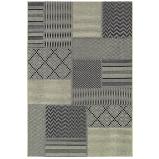 "Tides Rockville Black-Grey Rug (7'10"" x 10'10"")"