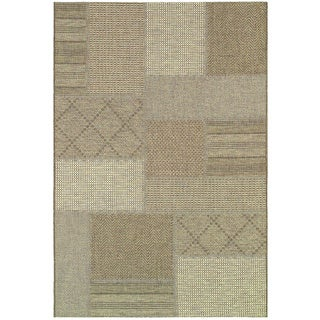 'Tides' Rockville Cream/ Cocoa Multi-print Neutral Outdoor Rug (3'11 x 5'7)