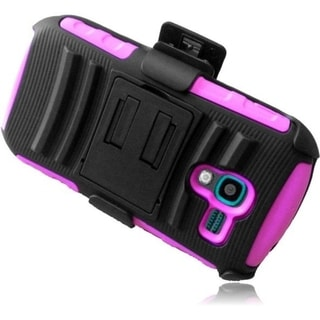 BasAcc Advanced Armor Dual Layer Hybrid Stand PC Silicone Holster with Phone Case Cover For Samsung Galaxy Exhibit SGH-T599