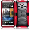 BasAcc Red/ Black Case with Stand for HTC One M7