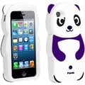BasAcc Purple Panda Silicone Case for Apple iPhone 5/ 5S