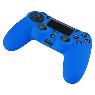BasAcc Blue Silicone Skin Case for Sony PlayStation 4 Controller