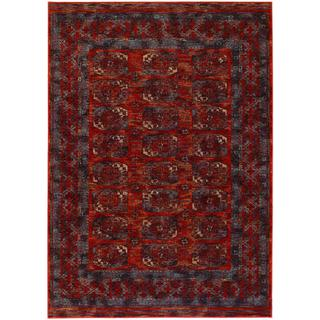 Afghan Panel Rust Persian New Zealand Wool Area Rug (7'10 x 11')