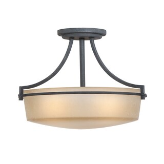 Quiozel 'Caitlyn' Semi-Flush Mount 3-light Fixture