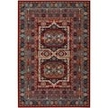 Maharaja/ Burgundy Persian New Zealand Wool Rug Rug (5'3 x 7'6)