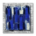 Alexis 'BlueStudy' Modern Metal Wall Art