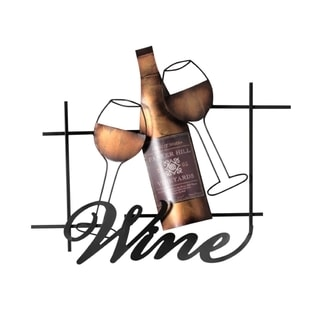 Elements 19x15.5-inch Wine Metal Art