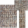 Tilted Squares Collection Beige Rug 3pc Set by Nourison (2'2 x 7'3) (3'11 x 5'3) (5'3 x 7'3)