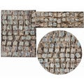 Tilted Squares Collection Beige Rug 3pc Set by Nourison (2'2 x 7'3) (3'11 x 5'3) (5'3 x 5'3 Round)
