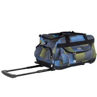 CalPak 'Champ' Grass Check 21-inch Carry On Rolling Upright Duffel Bag