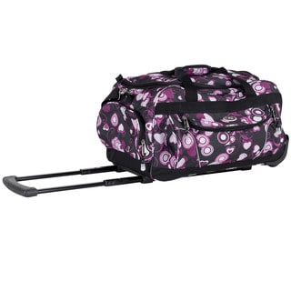 CalPak 'Champ' Pink Love 21-inch Carry On Rolling Upright Duffel Bag