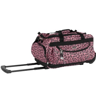 CalPak 'Champ' Red Leo 21-inch Carry On Rolling Upright Duffel Bag