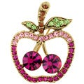 Fuchsia Apple Pin Fruit Pin Brooch