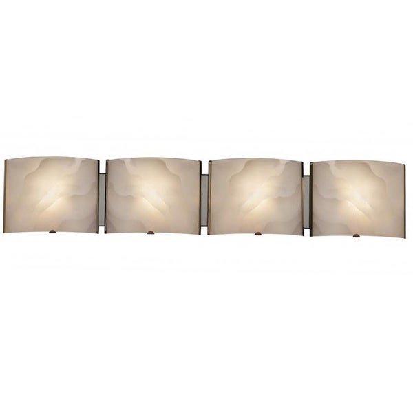 Contemporary 4 light chrome bath vanity fixture for 4 light bathroom fixture