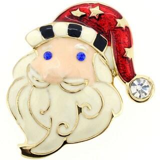 Christmas Santa Claus Pin Christmas Pin Brooch