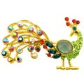 Mutlicolor Crystal Peacock Pin Brooch