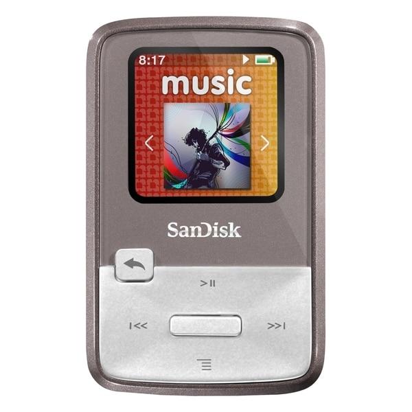 SanDisk Sansa Clip Zip SDMX22-004G-A57G 4 GB Flash MP3 Player - Gray