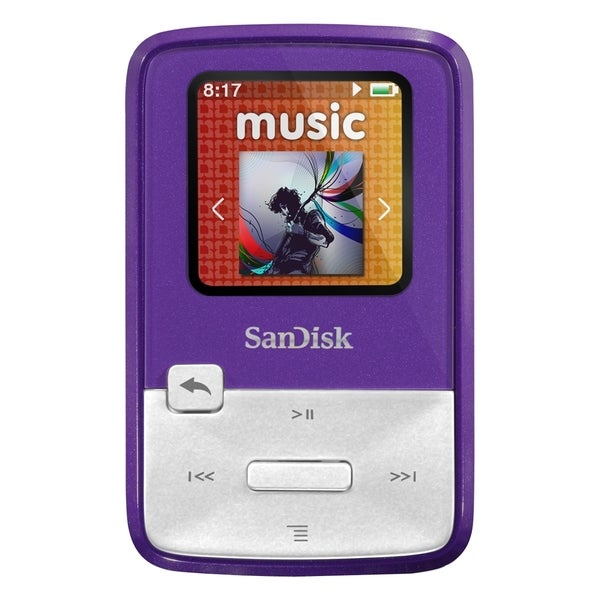 SanDisk Sansa Clip Zip SDMX22-004G-A57P 4 GB Flash MP3 Player - Purpl