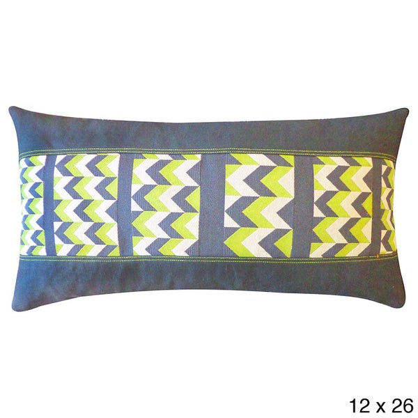 Sharp Green Throw Pillow