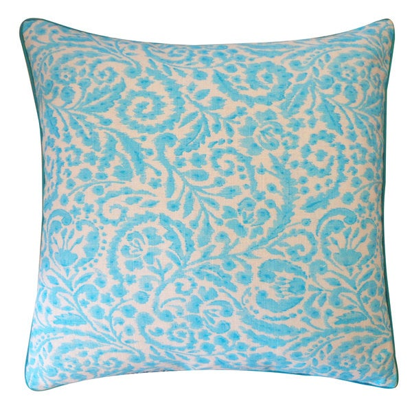20 x 20-inch Amigo Turquoise Throw Pillow