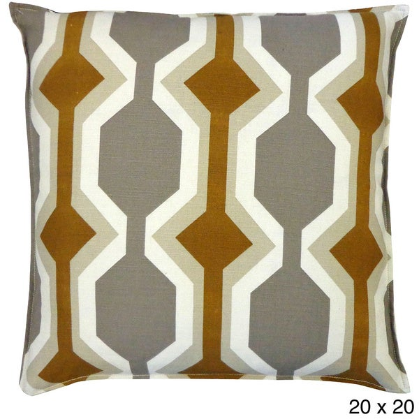 Freeway Brown Throw Pillow