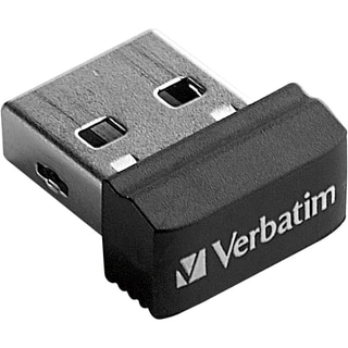 Verbatim 64GB Store 'n' Stay Nano USB Flash Drive - Black