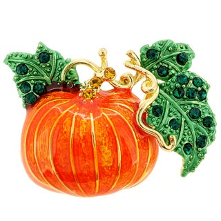 Enamel Pumpkin Halloween Pin Brooch