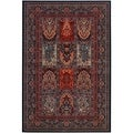 Timeless Treasures Vintage Baktiari Ebony/ Black Rug (5'3 x 7'6)