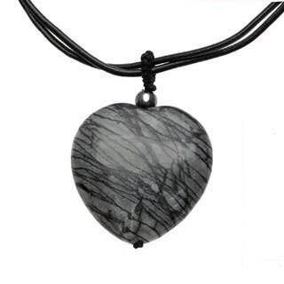 18-inch Picasso Jasper Heart Necklace
